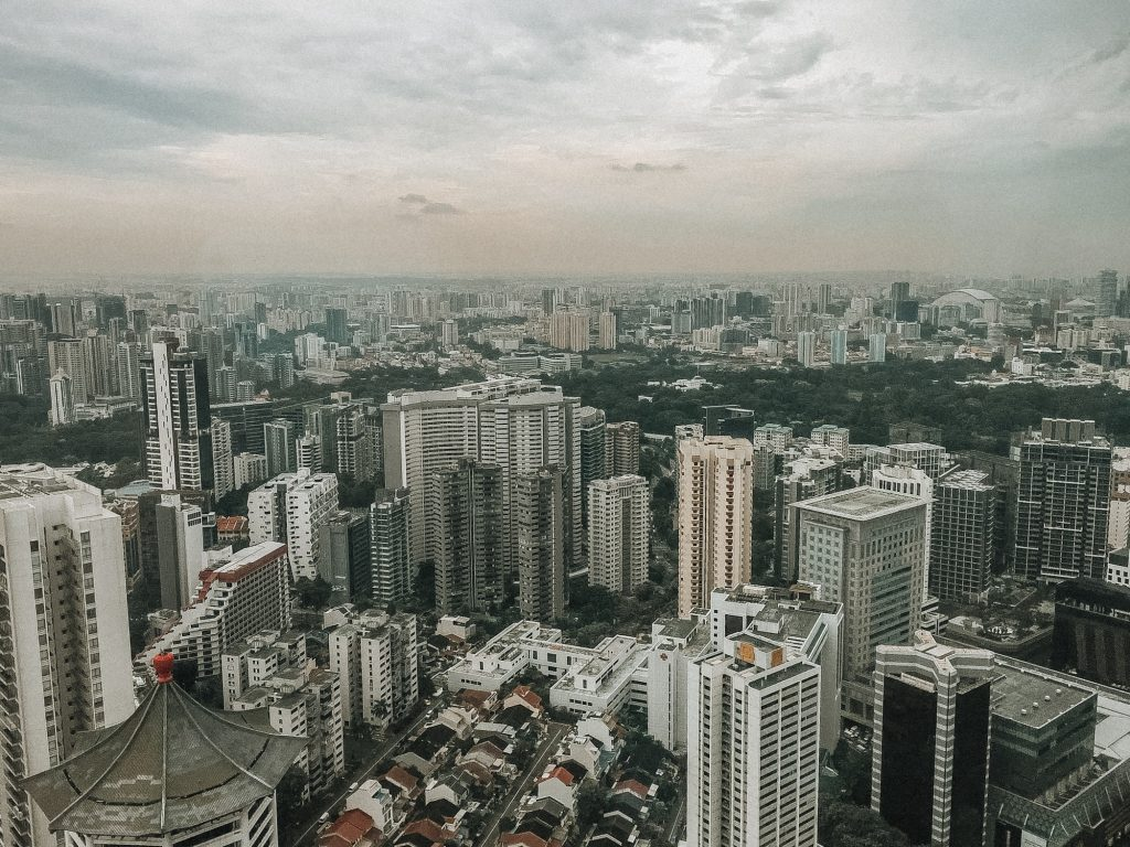 view from the top of ion mall in singapore