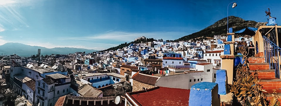 full city view of chefchaouen