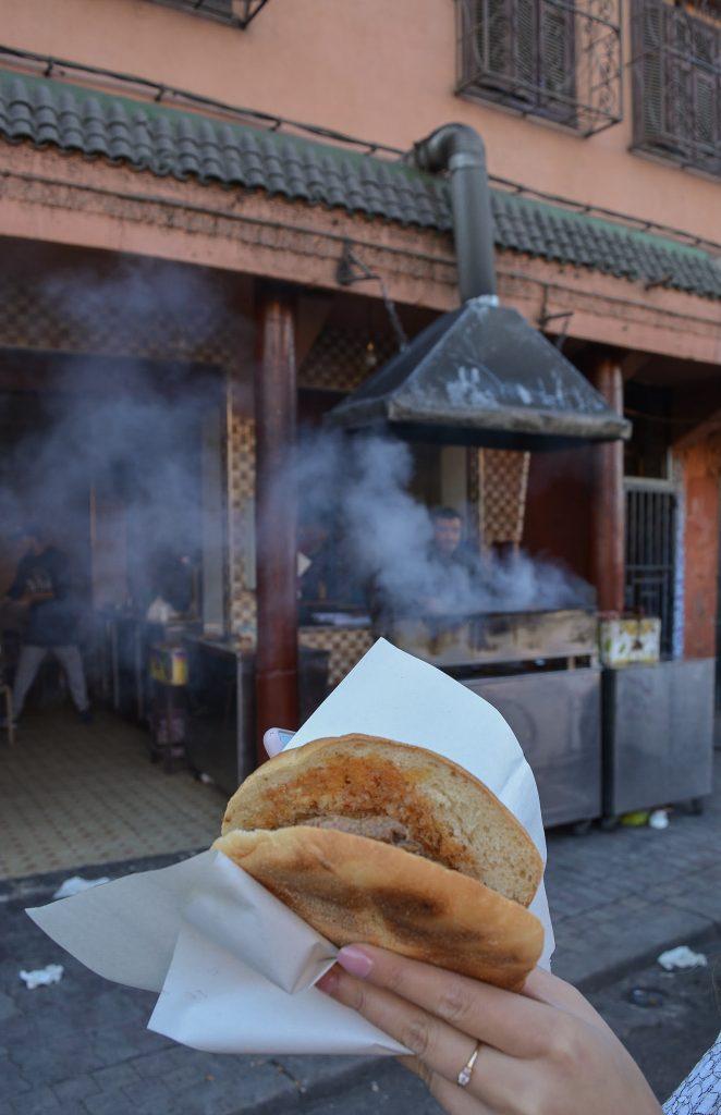 Morocco pita sandwich