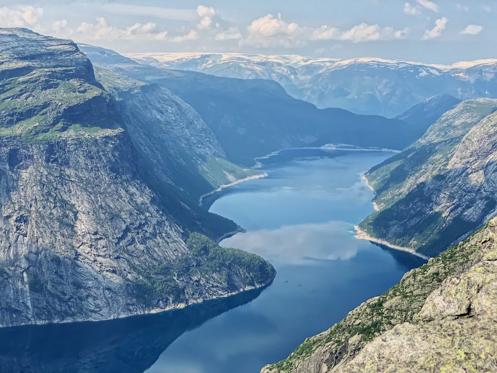 view from top of Trolltunga hike