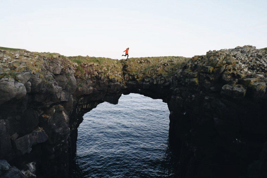 famous land bridge Iceland