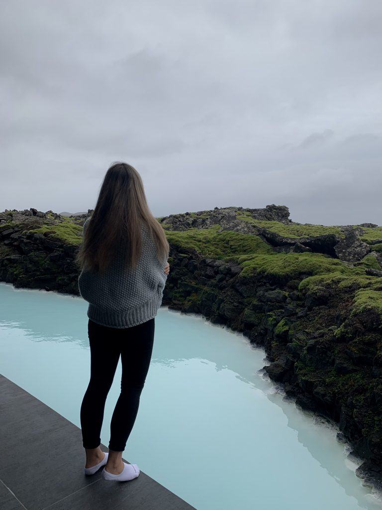 lava rocks and blue lagoon