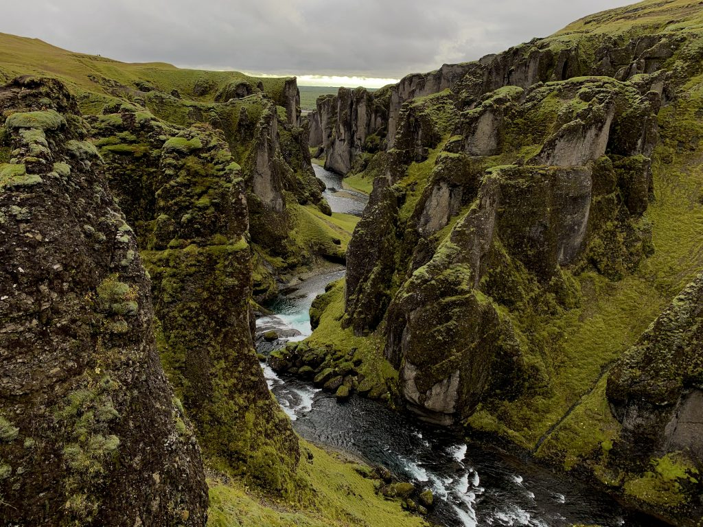 famous green canyon iceland